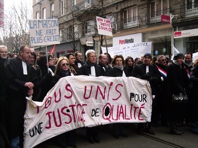 Manifestation à St Etienne le 9 mars 2010